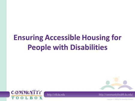 Ensuring Accessible Housing for People with Disabilities.