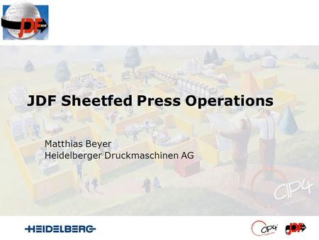 JDF Sheetfed Press Operations