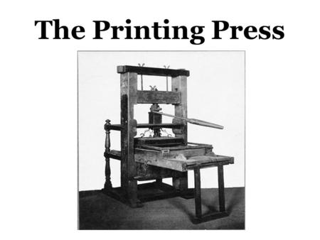 The Printing Press. Effects of the Printing Press On Religion…. For the first time, people could read the Bible and other religious books in their own.