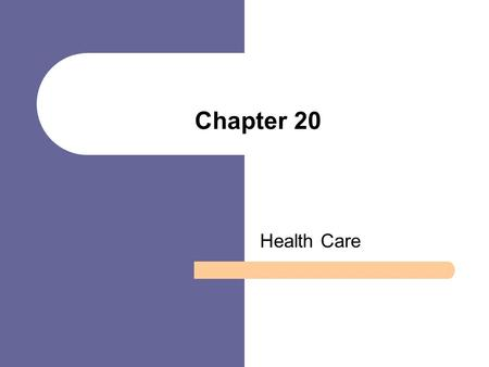 Chapter 20 Health Care. Chapter Outline The Structure of Health Care in the U.S. Theoretical Perspectives on Health Care Health and Sickness in America: