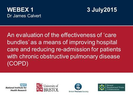 Division of Primary Health Care An evaluation of the effectiveness of 'care bundles' as a means of improving hospital care and reducing re-admission for.