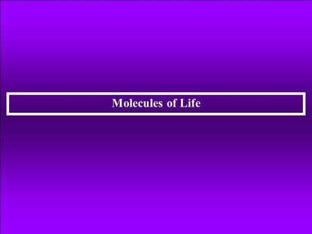 Molecules of Life. Organic Compounds: Molecules containing the element of carbon and at least one hydrogen atom. Chemistry of Carbon Atoms Carbon atoms.