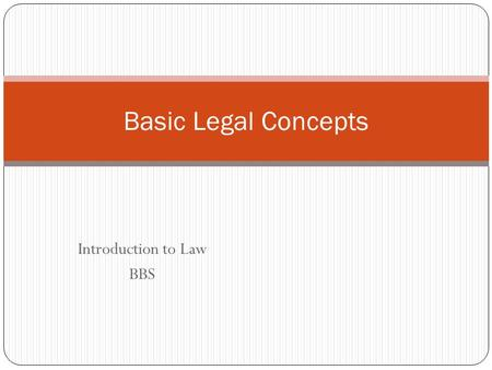 Introduction to Law BBS