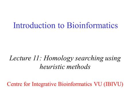 INTRODUCTION PDF ATTWOOD TO BIOINFORMATICS