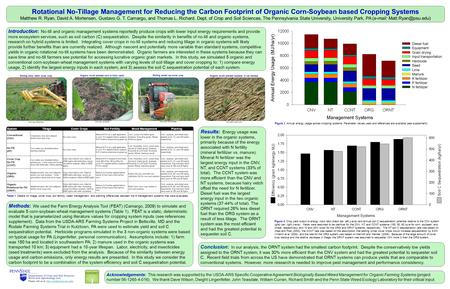 Acknowledgements: This research was supported by the USDA-ARS Specific Cooperative Agreement Biologically Based Weed Management for Organic Farming Systems.