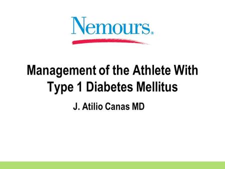 Management of the Athlete With Type 1 Diabetes Mellitus