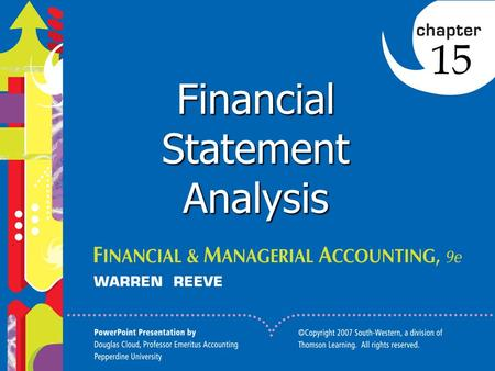 1 Click to edit Master title style 1 1 1 Financial Statement Analysis 15.