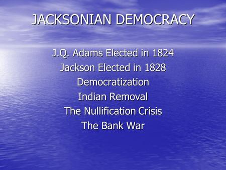 democracy in america essay topics