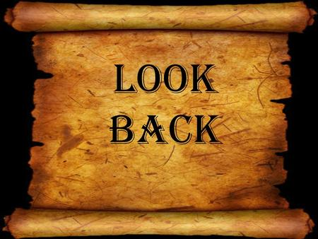 Look Back. God makes a covenant with man Man doubts God and sins God restores man with a sacrifice.