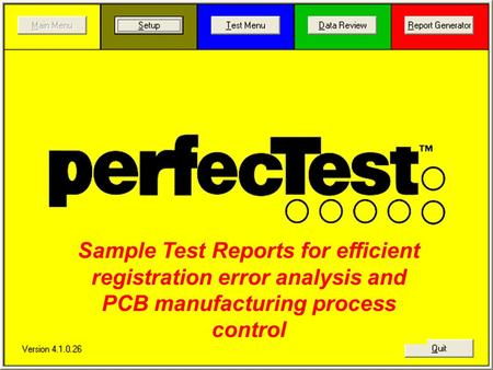 Sample Test Reports for efficient registration error analysis and PCB manufacturing process control.
