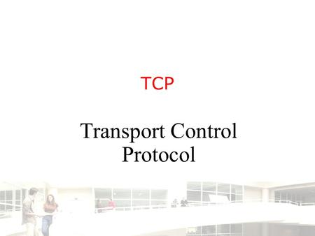 TCP Transport Control Protocol. 2003-2004 - Information management 2 Groep T Leuven – Information department 2/35 Introduction UDP provides the connection.