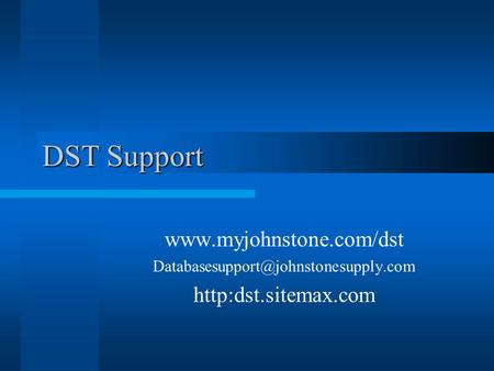 DST Support