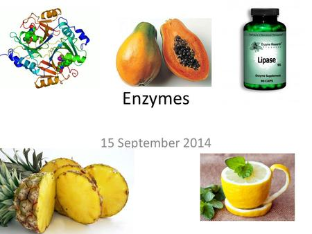 Enzymes 15 September 2014. Enzymes lower the activation energy required to start a chemical reaction. Enzymes function as catalysts – a substance that.