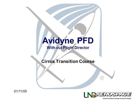 Avidyne PFD With out Flight Director