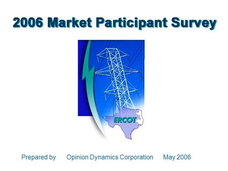 Prepared by Opinion Dynamics Corporation May 2006.