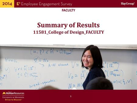 Human Resources Office of FACULTY Summary of Results 1 11581_College of Design_FACULTY.