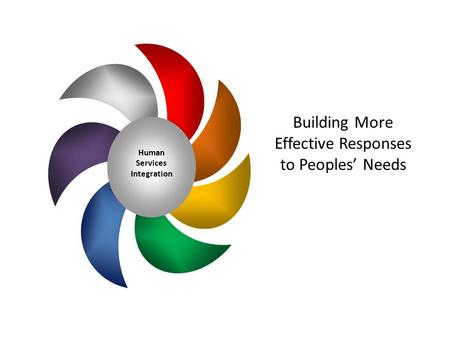 Human Services Integration Building More Effective Responses to Peoples' Needs.