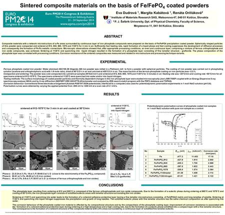 Composite materials with a network microstructure of α-Fe areas surrounded by continuous layer of iron phosphate compounds were prepared on the basis of.