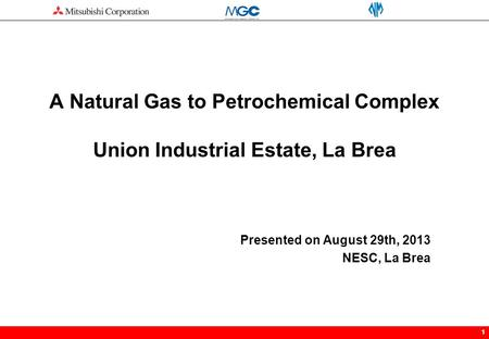 11 A Natural Gas to Petrochemical Complex Union Industrial Estate, La Brea Presented on August 29th, 2013 NESC, La Brea.