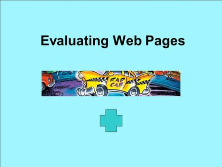 Evaluating Web Pages.