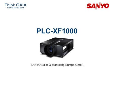 PLC-XF1000 SANYO Sales & Marketing Europe GmbH. Copyright© SANYO Electric Co., Ltd. All Rights Reserved 2007 2 Technical Specifications Model: PLC-XF1000.