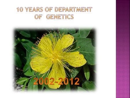 Department of Botany and Genetics 1968-1969 Department of Biology 1963 Department of Biology 1963-1968 Laboratory of Radiobiology 1963-1968 Department.