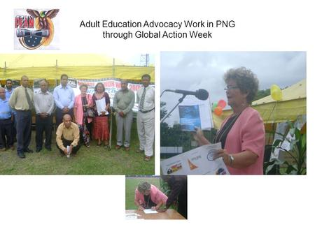Adult Education Advocacy Work in PNG through Global Action Week.