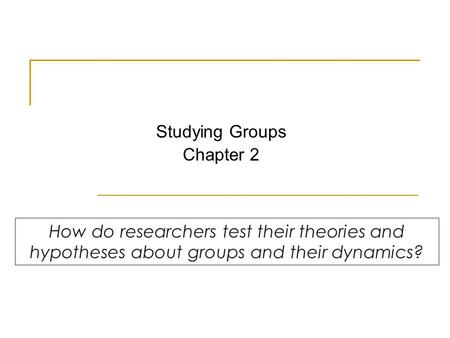 Studying Groups Chapter 2