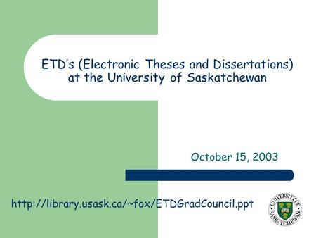 electronic thesis and dissertation collection