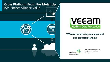Cross Platform From the Metal Up ISV Partner Alliance Value VMware monitoring, management and capacity planning.