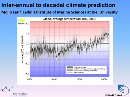 Inter-annual to decadal climate prediction Mojib Latif, Leibniz Institute of Marine Sciences at Kiel University.