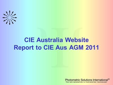 CIE Australia Website Report to CIE Aus AGM 2011.