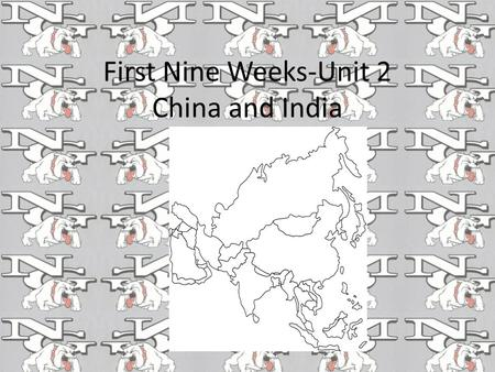 First Nine Weeks-Unit 2 China and India The Great leap Forward stressed what in China? Extensive commercial farming & manufacturing.