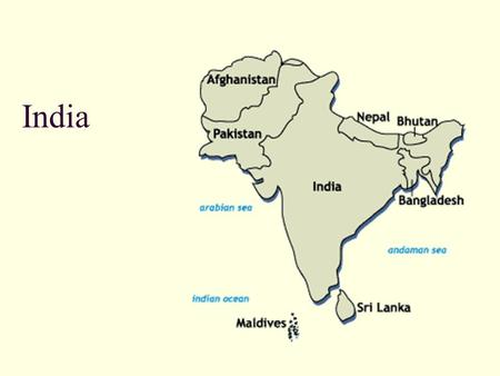 India. Landforms Isolated by mountains, deserts, and water Himalayas Ghats and Deccan Plateau Indus, Ganges, Brahmanputra Rivers 60% of the land is arable.