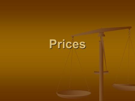 Prices. The Role of Prices In a free market, prices are a tool for distributing goods and resources throughout an economy. In a free market, prices are.