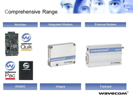 Modules WISMO External Modem Fastrack Integrated Modem Integra Comprehensive Range.