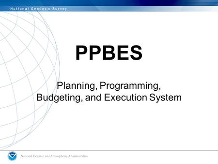 PPBES Planning, Programming, Budgeting, and Execution System.
