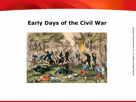 TEKS 8C: Calculate percent composition and empirical and molecular formulas. Early Days of the Civil War.