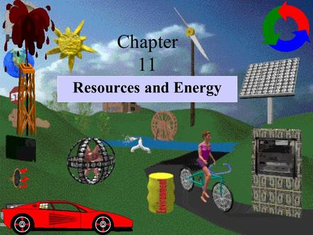 Chapter 11 Resources and Energy. A resource is any useful information, material or services. Resources can be described as being: natural resources -goods.