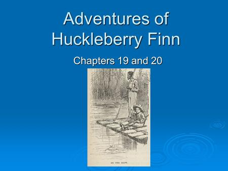 huck finn thesis statements
