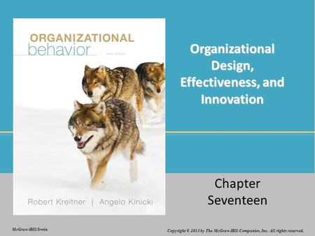 Organizational Design, Effectiveness, and Innovation
