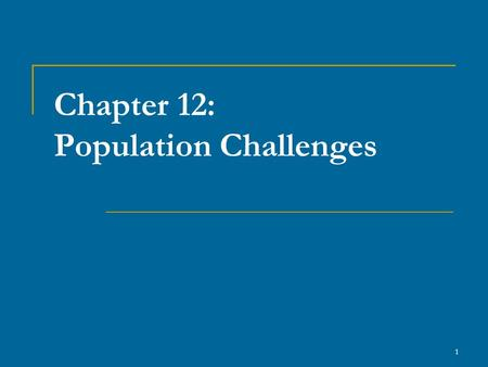 1 Chapter 12: Population Challenges. 2 1. Introduction Canada is the second largest country in the world by size (9,979,600 km²) Population estimated.