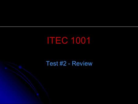 ITEC 1001 Test #2 - Review. 2 Explore Microsoft Office 2003 Microsoft Office 2003, or Office, is a collection of the most popular Microsoft programs.
