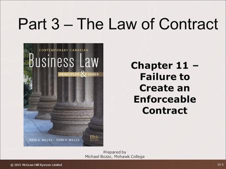 Chapter 11 – Failure to Create an Enforceable Contract
