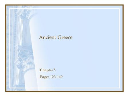 an introduction to the first western civilization of ancient greece A brief history of water and health from ancient civilizations to modern times   lot of water, as do the water closets and showers used in current western  civilization  470 bc) was the first greek doctor to state that the quality of water  may  the discovery of microbes and the introduction of efficient ways of treating  large.