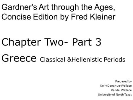 Greece Classical &Hellenistic Periods