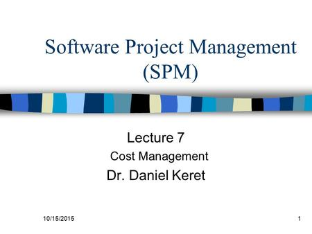 Software Project Management (SPM)