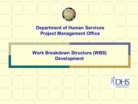 Department of Human Services Project Management Office Work Breakdown Structure (WBS) Development.