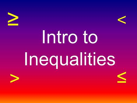 Intro to Inequalities ≥ ≤ ˂ >. Credit Card Situation 1: Your mom gave you her credit card and said that you could go shopping for a birthday present.