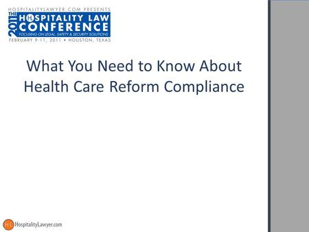 What You Need to Know About Health Care Reform Compliance.